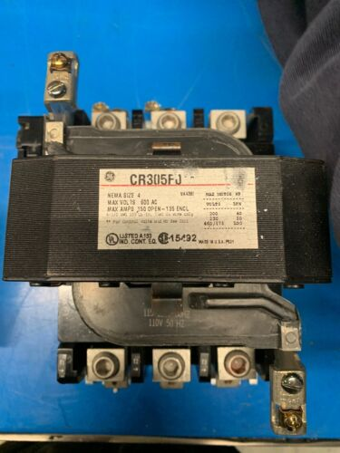CR305F0 GE Size 4 Contactor 120V Coil Nice Contacts