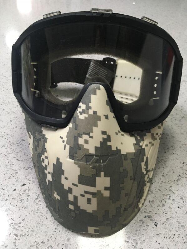 Winter camo full face airsoft adjustable mask