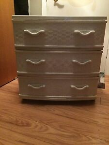 Small White Plastic Dresser