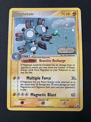 EX/NM Magneton 22/92 Reverse HOLO Rare Pokemon Card EX Legend Maker 2006