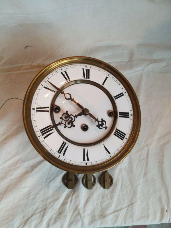 3 Gewichtiges Uhrwerk Gründerzeit um 1870 für Bastler