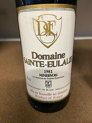 Jahrgang 1981, französischer Rotwein Sainte EULALIE