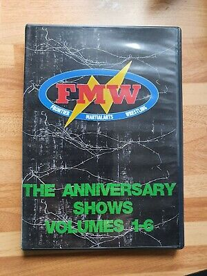 FMW Frontier Martial Arts Wrestling Anniversary Collection 1-6 On 6 DVDs