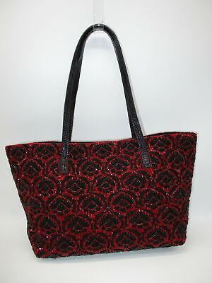 FENDI black & red beaded small handbag