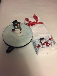 New candy dish and towel set