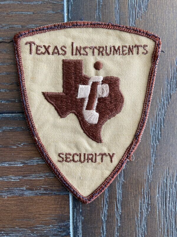 """VTG Texas Instuments Security Patch Brown & Tan 4-3/8"""" X 3.5"""""""