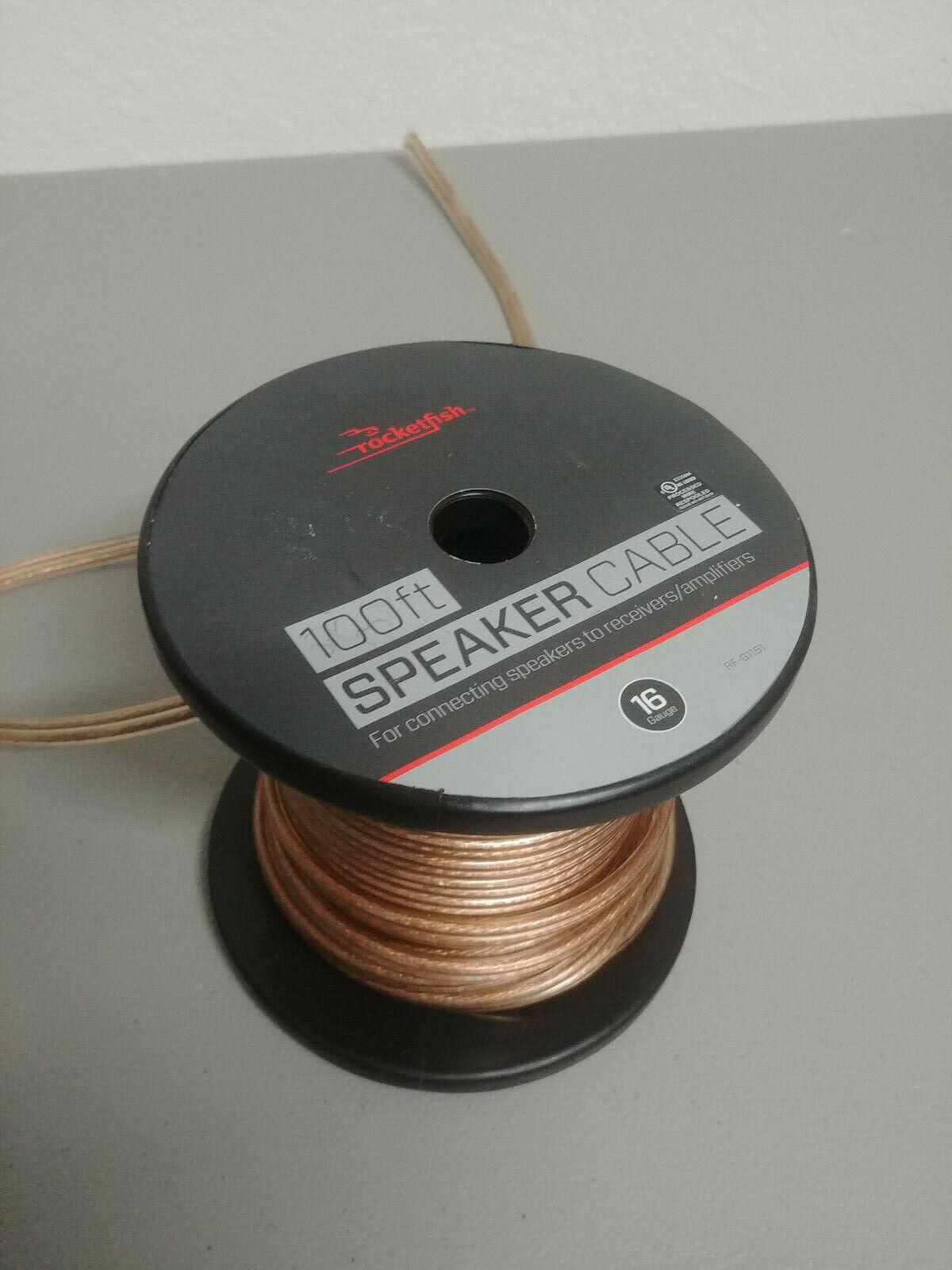 Rocketfish™ - 100' Speaker Wire - 16awg - Gold