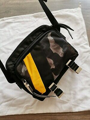 AUTHENTIC PRADA BANDOLIER  NYLON BAG WITH CAMOUFLAGE DETAILS AND CONTRASTS