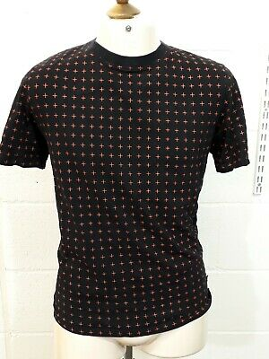 Hymn London Crew Neck T Shirt - Size S - Black & Red - Cotton