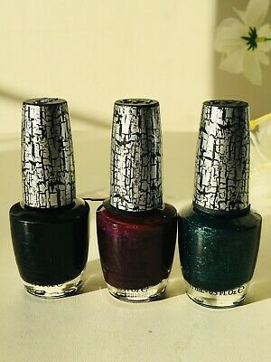 3 X OPI SHATTER NAIL LACQUER VARNISH 15ML BRAND NEW - 100% AUTHENTIC Read Detail