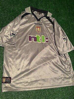 Aston Villa Dion Dublin Vintage 2001-02  Diadora EPL Third Shirt Soccer Jersey   image