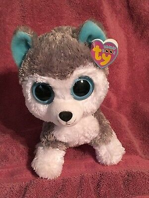 Ty Beanie Boos   Slush The Husky Dog    Mint With Mint Tags