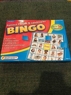 Famous People & Landmarks Bingo