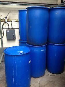 1 x 205 litre plastic water butt drum barrel