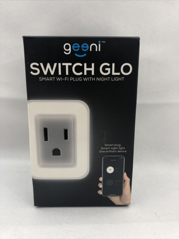 Geeni - Wi-Fi Smart Plug with Individually Controlled Nightlight - White