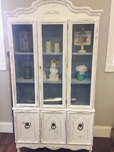 Refinished display cabinet with Annie Sloan paint