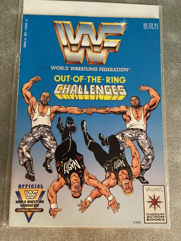 WWF Out of the Ring Challenges Comic Valiant WWE WCW Battlemania Nasty Boys