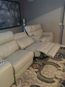 Superb Full Leather Home Theatre Lounge Lidcombe Auburn Area Preview