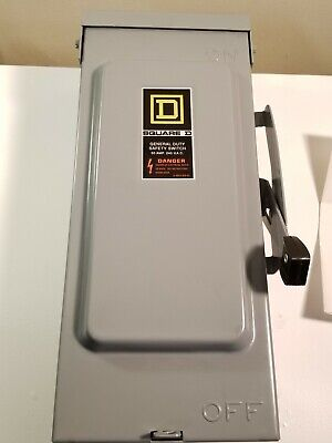 Square D General Duty Safety Switch Interruptor 60amp 240 Vac D222nrb