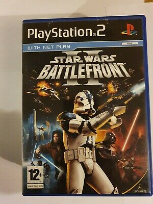 star wars battlefront 2 ps2 game. playstation 2 with book