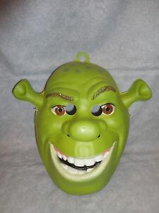 Shrek PVC Mask Ogre 1 2 3 The Third Forever After Full Face Adult Green Costume