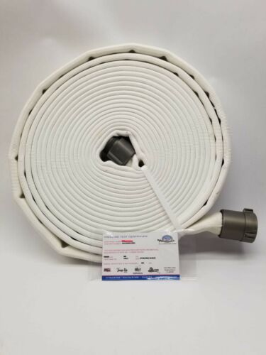 "All-American Fire Hose 6D15X50W15NUL 1-1/2"" Alum 600PSI Poly/Rubber 50 Feet"