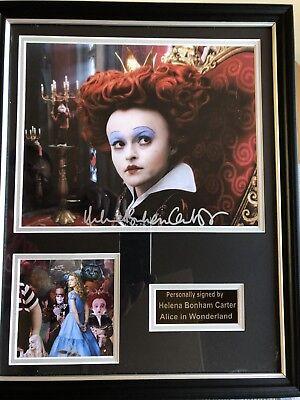 Helena Bonham Carter Alice In Wonderland Autograph Display & Approved Dealer COA