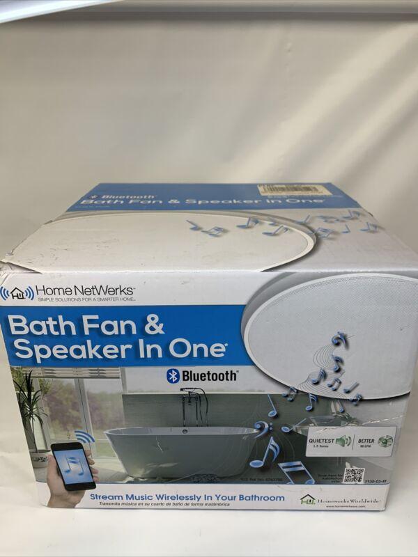 Home NetWerks Bathroom Exhaust Fan With Bluetooth Speaker 90 CFM White  New