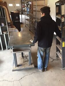Wesco Hydraulic lift  platform table