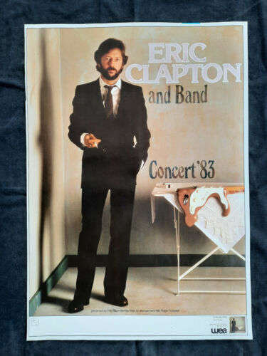 +++ 1983 ERIC CLAPTON Concert Poster Germany
