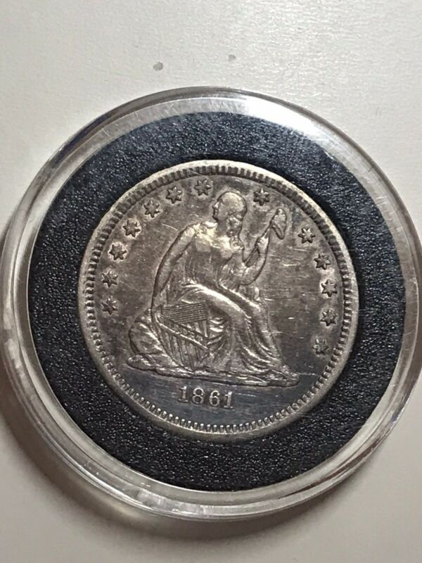 1861 Seated Liberty Quarter