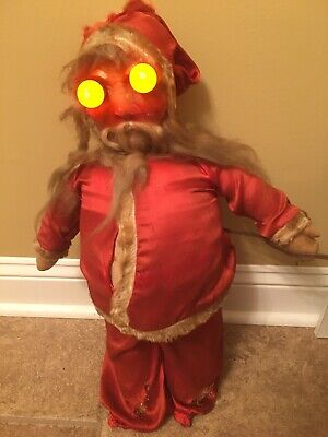 Scary Eyes For Halloween (Scary 1950'S Vintage Santa With Lightbulb Eyes. Great For Halloween &)