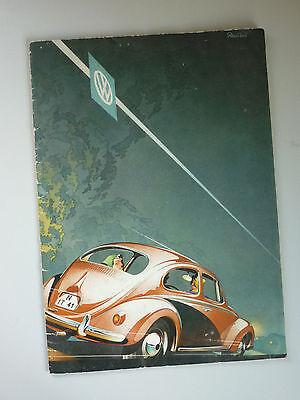 VOLKSWAGEN BEETLE BROCHURE 1950s (ENGLISH TEXT) CLASSIC VW DE LUXE CONVERTIBLE