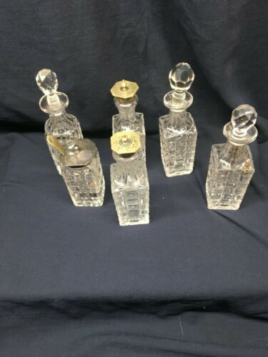6 Square Castor Set Bottles