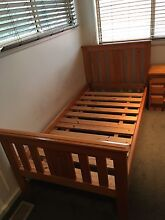 Timber single bed with side table Beverly Hills Hurstville Area Preview
