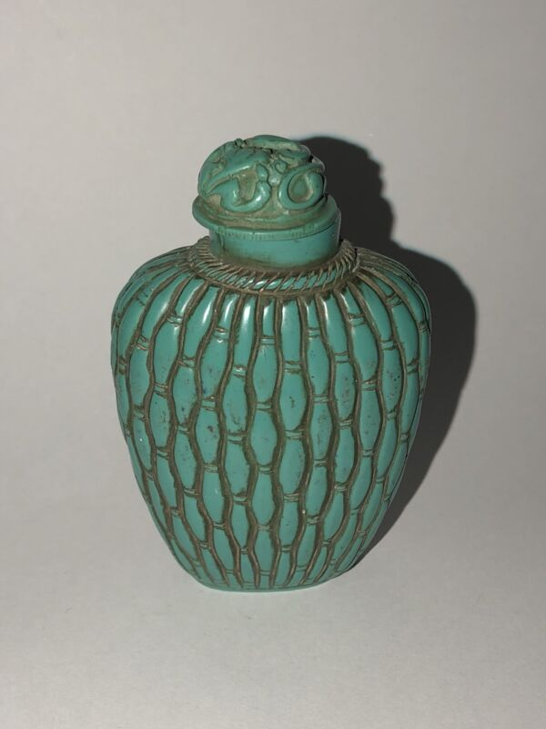 Turquoise Carved Snuff Bottle