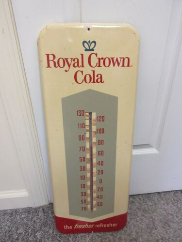 VINTAGE ADVERTISING ROYAL CROWN COLA THERMOMETER    A-195