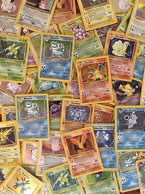 Vintage Pokemon 55 Card Lot (Holos & 1st editions guaranteed) Read Description