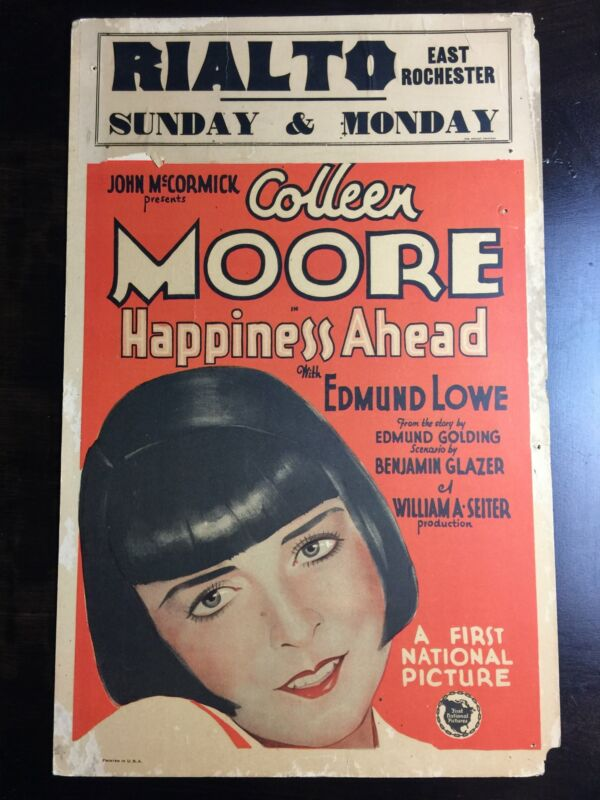 Happiness Ahead - Coleen Moore (1928) US Window Card Movie Poster