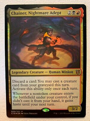 MTG 1x FOIL Chainer, Nightmare Adept Commander 2019 Magic the Gathering x1 NM