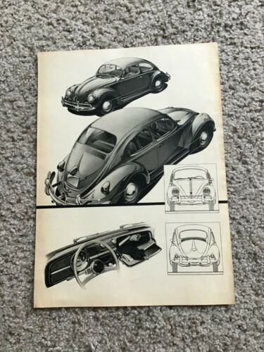 1960s  VW beetle two sided sales handout.
