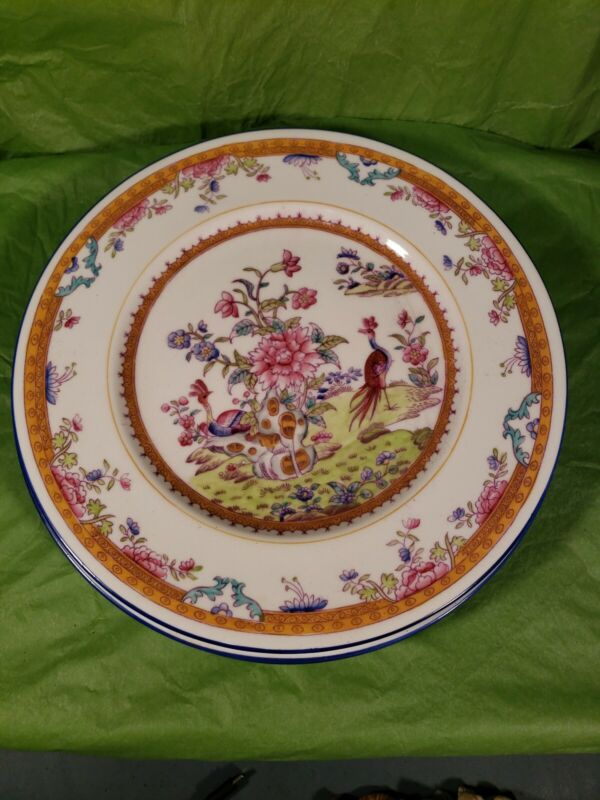 Coalport Dinner Plates Set Of 4 Hand Painted &Numbered