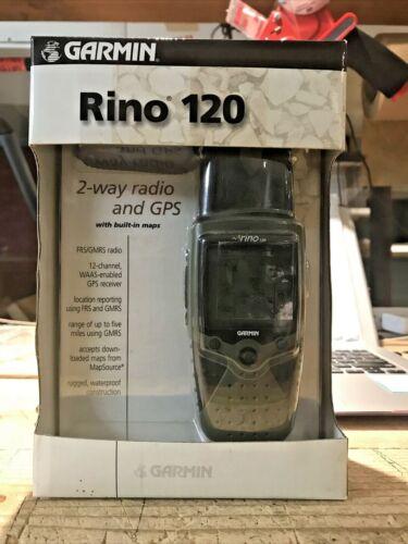 GARMIN RINO 120 Handheld GPS Nav and 2-way FRS/GMRS Radio NEW