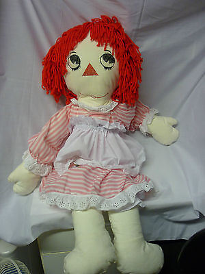"""Raggedy Ann Rag dolls & clothes Approx 36"""" high (3 foot) Made by me!"""