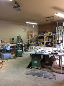 Equipped woodworking hobby shop for rent $850/month