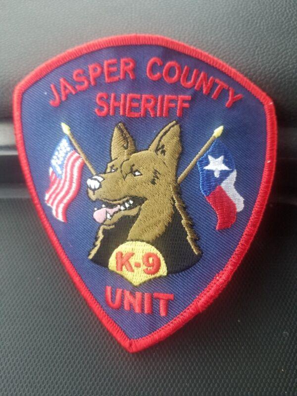 Jasper County TX Sheriff K9 Unit Patch - collectible!