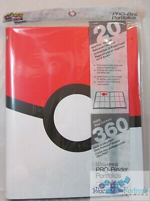 ULTRA PRO POKEMON Pokeball Red white PRO-BINDER CARD HOLDER + 20 PAGES FOR CARDS