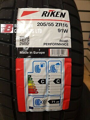 1X New 205 55 16 RIKEN ROAD PERF 91W 2055516 205/55R16 *C/C RATED MICHELIN MADE*