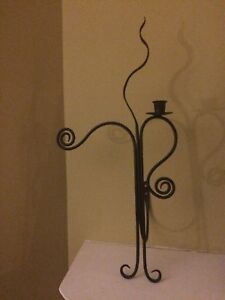 Wrought iron candle holder ( wall mount)