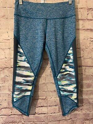 Women's ZELLA fitted Capri leggings Athletic, Yoga TURQUOISE. Sz Small